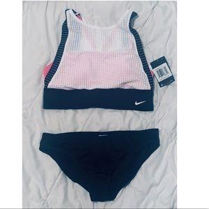 NWT Nike women's jersey swimsuit bathing workout